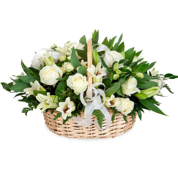 """Цветы в корзинке """"Ангел"""""""